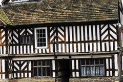 托特Façade、广泛的Adlington霍尔庭院和地面在彻斯特 库存图片