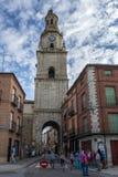 托罗时钟曲拱在萨莫拉 库存照片