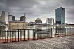 托莱多俄亥俄市地平线 免版税库存图片