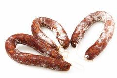 托莱多加调料的口利左香肠 免版税库存照片