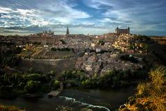托莱多和Tajo河,西班牙 免版税图库摄影