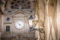 托莱多圣玛丽s大教堂建筑细节在西班牙 免版税库存照片
