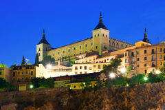 托莱多城堡。西班牙 库存照片