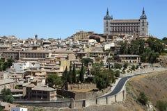 托莱多城堡- La Mancha -西班牙 免版税图库摄影