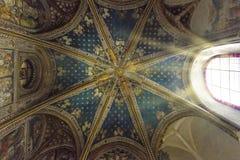 托莱多大教堂的内部 图库摄影