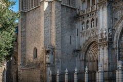托莱多大教堂的室外看法  免版税图库摄影