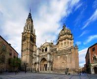 托莱多,西班牙大教堂  免版税库存图片