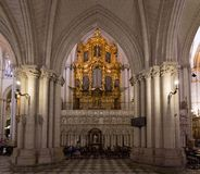 托莱多大教堂,西班牙器官  图库摄影