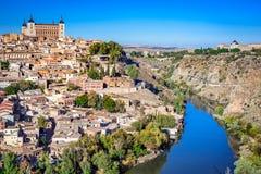 托莱多,卡斯提尔la Mancha,西班牙 库存照片