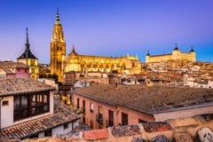 托莱多,卡斯蒂利亚la Mancha,西班牙 免版税库存照片