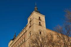 托莱多,托莱多,卡斯蒂利亚拉曼查,西班牙城堡  免版税库存照片