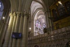 托莱多,皇家城市Gothic.cathedral  免版税图库摄影