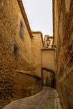 托莱多,西班牙狭窄的街道  库存照片