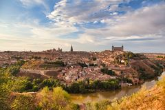 托莱多,西班牙,全景 免版税库存图片