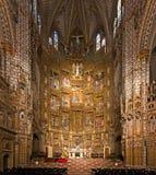 托莱多,西班牙- 2014年5月:托莱多大教堂法坛  库存照片