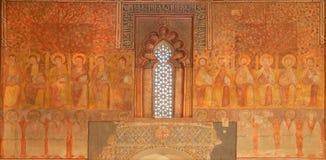 托莱多-先知壁画在圣罗马教会 库存图片