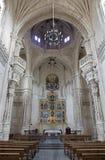 托莱多- Monasterio圣胡安de los国王的圣约翰雷耶斯或修道院哥特式内部  免版税图库摄影