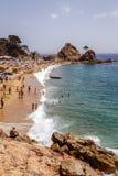 托萨德马尔海滩,西班牙 库存图片