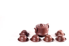 托起茶壶 免版税库存照片