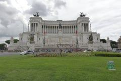 维托里奥Emanuele纪念碑在罗马,意大利 库存图片