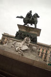 维托里奥Emanuele骑马雕象II 免版税库存图片