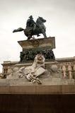 维托里奥Emanuele骑马雕象II 库存图片