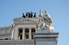 维托里奥Emanuelle III (Vittoriano) 免版税库存照片