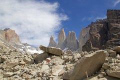 托里斯在托里斯del潘恩国家公园的del潘恩,智利巴塔哥尼亚,智利 免版税库存照片