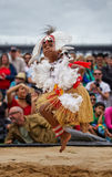 托里斯海峡传统服装的岛民男孩 库存图片