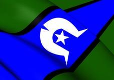 托里斯海峡岛民旗子  皇族释放例证