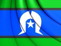 托里斯海峡岛民旗子  向量例证