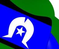 托里斯海峡岛民旗子 库存例证