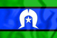 托里斯海峡岛民旗子  3d例证 库存例证
