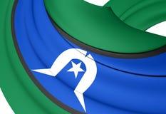 托里斯海峡岛民的旗子 皇族释放例证