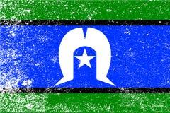 托里斯海峡岛民难看的东西旗子 皇族释放例证