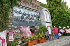 托里诺庆祝光彩的菲拉德尔菲亚体育场的改建橄榄球俱乐部在被修造的寺庙 库存照片