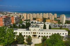 托雷莫利诺斯角(西班牙旅游城市) -马拉加Panorana -安达卢西亚-西班牙 库存图片