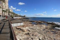 从托雷维耶哈,西班牙的看法 免版税库存照片