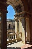 托马尔的基督会院天主教修道院在Tomar, Portuga 免版税图库摄影