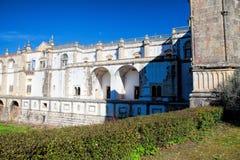 托马尔的基督会院的12世纪Templar教会在Tomar- 免版税库存图片