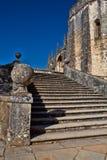 托马尔的基督会院的12世纪Templar教会在Tomar- 库存图片