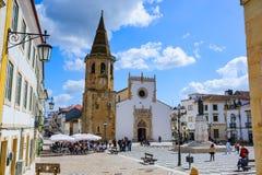 托马尔,葡萄牙- 2018年3月31日 托马尔市视图 免版税库存照片