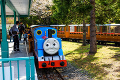 托马斯在驻地的火车停车处 图库摄影