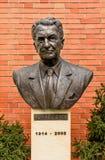 托马斯巴塔雕塑在巴塔别墅的在Zlin,捷克 免版税库存图片