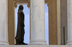 托马斯・杰斐逊纪念品雕象 免版税库存图片