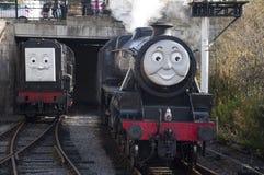 托马斯Llangollen的煤水柜机车和朋友蒸铁路 库存图片