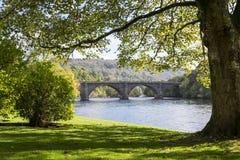 托马斯Telford桥梁, Dunkeld,苏格兰 免版税库存图片