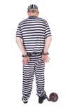 扣上手铐的囚犯 免版税图库摄影