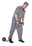 扣上手铐的囚犯 免版税库存图片