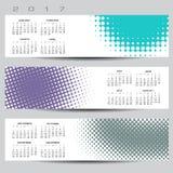 扣人心弦和五颜六色的抽象小点日历 库存例证